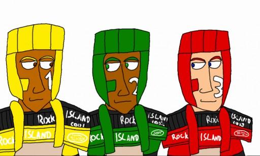 Rocky I, Rocky II, Rocky III by BlasSaurZard