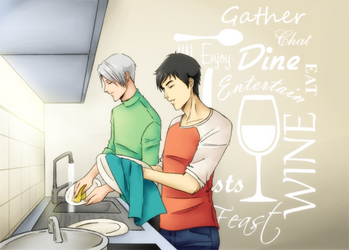 Day-to-day life - washing dishes by ShujiE