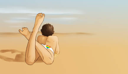 Boy on a Beach 26/6/19