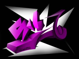 Graffiti 3D - S - 11102014 by S68Navia by S68Navia