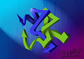 Graffiti 28 3D - 22102014 by S68Navia by S68Navia