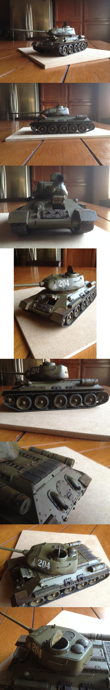 TAMIYA 1/35th scale T-34/85 by enojado
