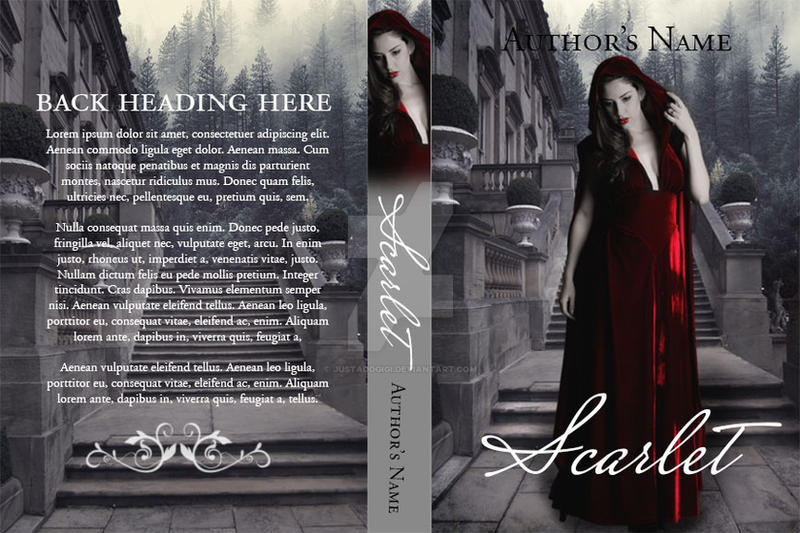 Scarlet: Premade Book Cover by justaddgigi