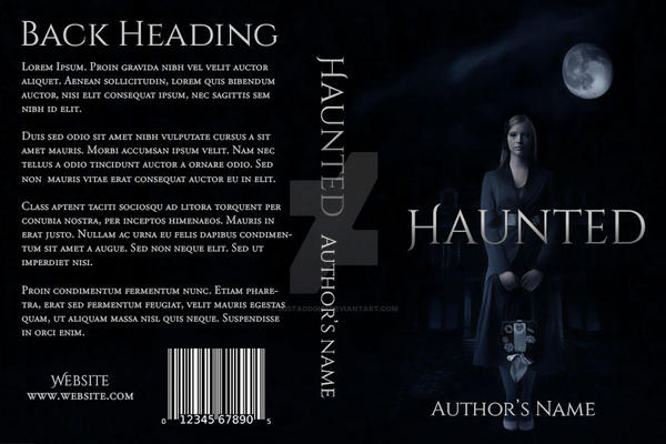 Haunted: Premade Book Cover by justaddgigi