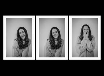 Jenny Rose - Laughter-Triptych #1 by afterg1ow