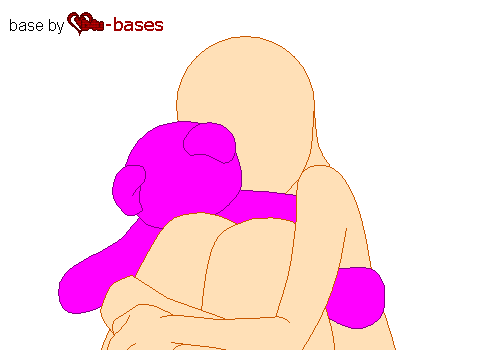 holding my teddy bear-base request- by D4u-bases