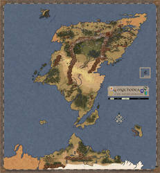The World of Mythodea Map