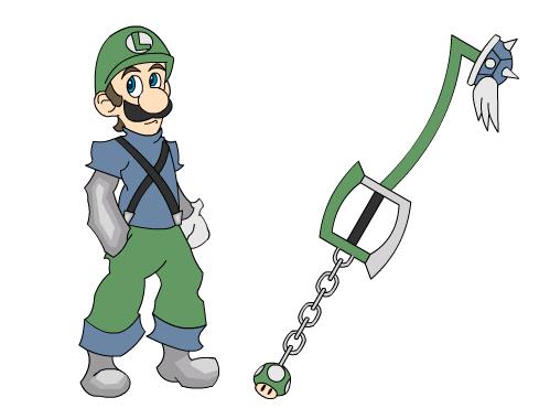 Mushroom Kingdom Hearts: Luigi by OrsumParis