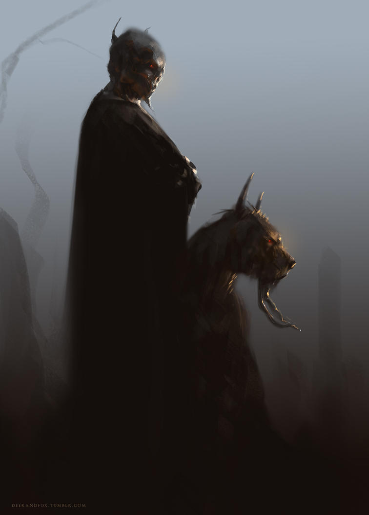 Demon and his Hound by DeerandFox