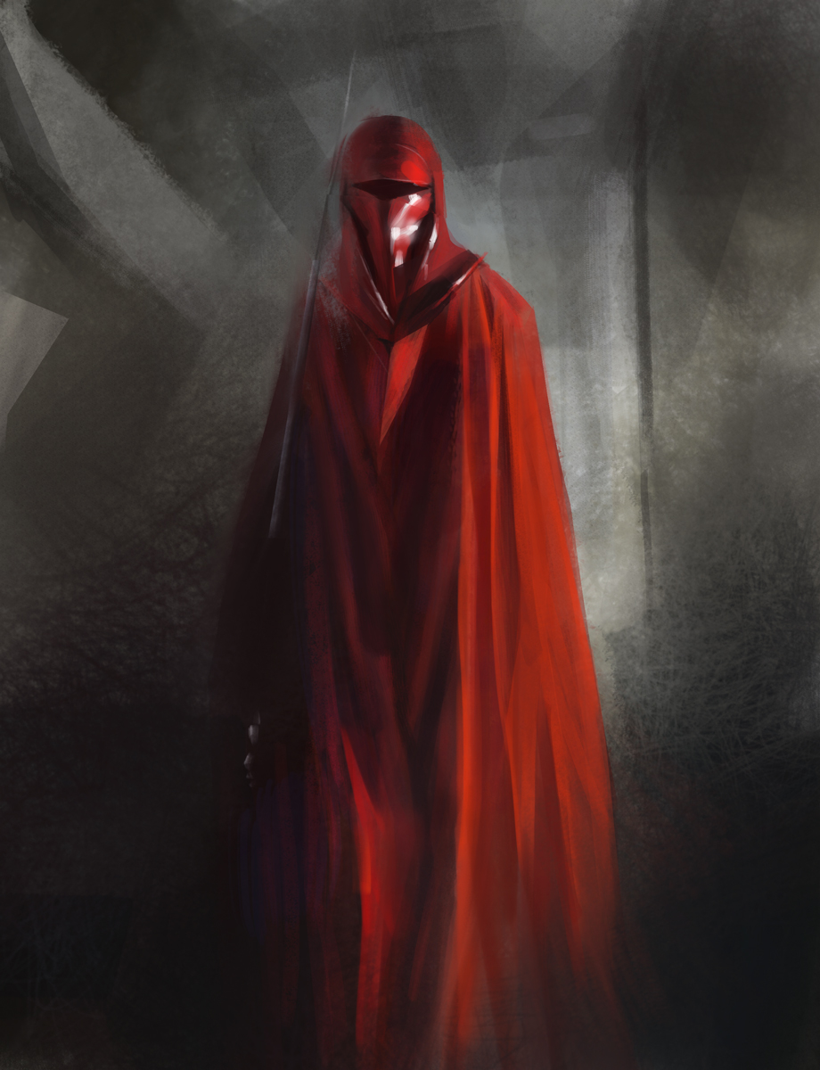 Man With Red Scarf Painting