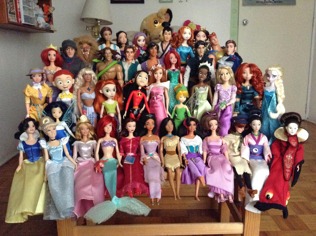 Disney dolls by Amishkeki