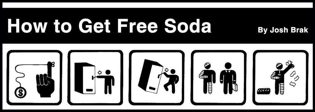 how to get a free soda from a soda machine
