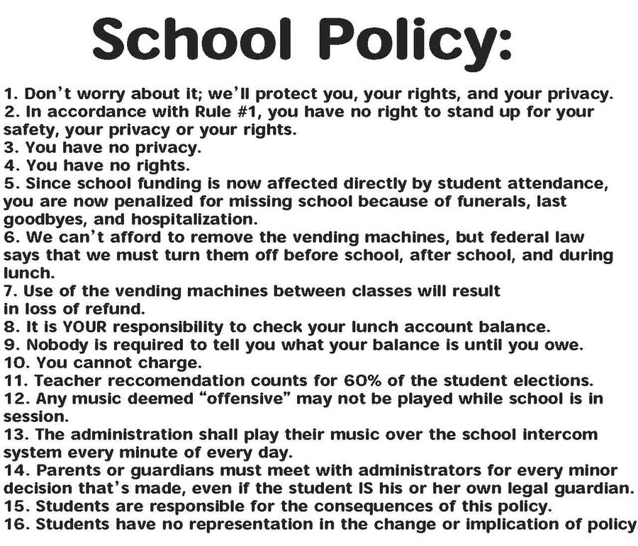 school policies and procedures Academics schools, policies office of university policy and procedures 620 w and procedures for the university of maryland, baltimore as well as links to.