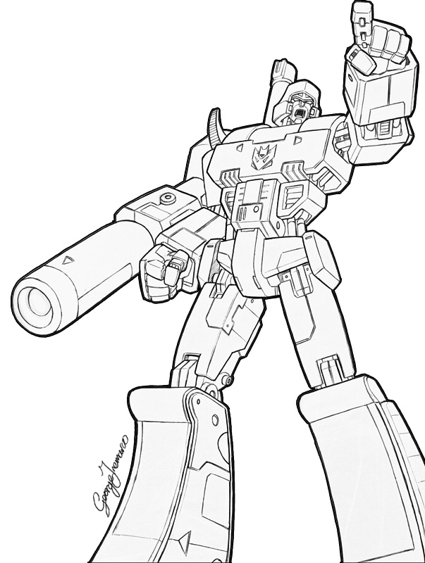 transformers coloring pages megatron - megatron drawings gallery