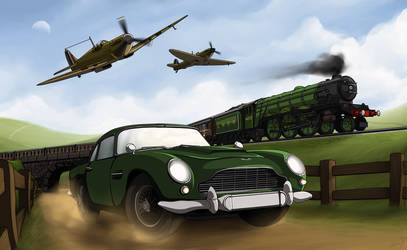 Vehicles of Legend - Aston Martin DB5 (UK) by ArtisticAxis