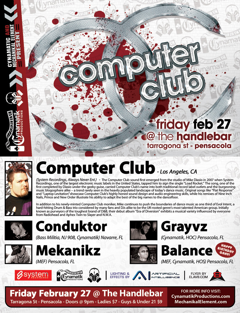 Computer Club flyer by eLav8 on DeviantArt