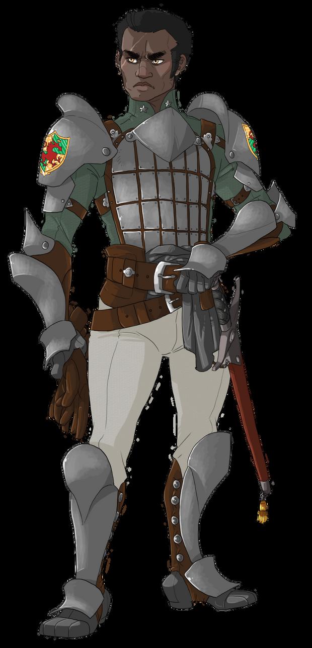 Captian of the Guard Horrin Roseblade by shinigamii