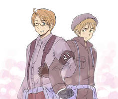 USUK in uniform by maybebaby83