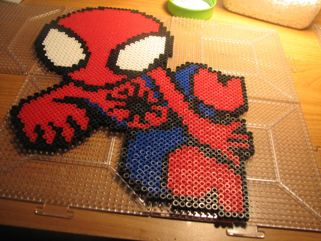 Hama Beads Spiderman: Chibi Spiderman Perler By Ndbigdi On DeviantArt