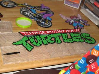 turtles logo perler by ndbigdi