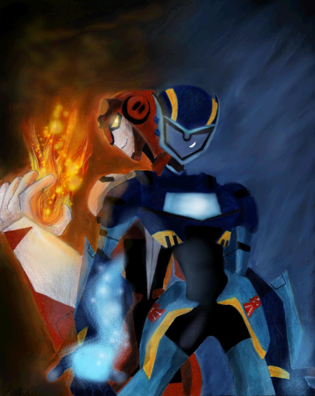 TFA:: Jetfire and Jetstorm by Bumblesz