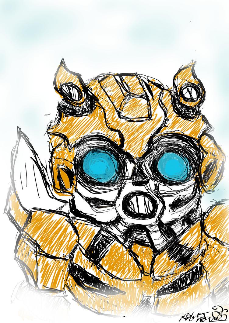Bee (digital art testing) by Bumblesz