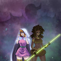 Sheila and Diana - Dungeons and Dragons fanart