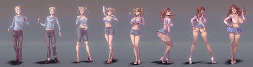 sexy schoolgirl transformation