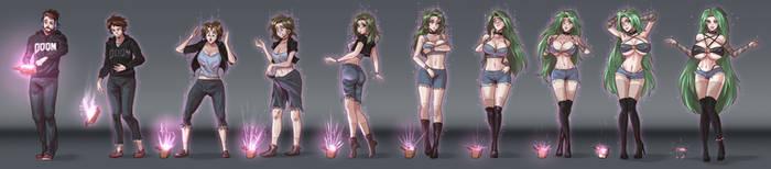 thicc punk lady Transformation