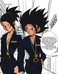 Detectives Kale and Caulifla by KeynoRoyal