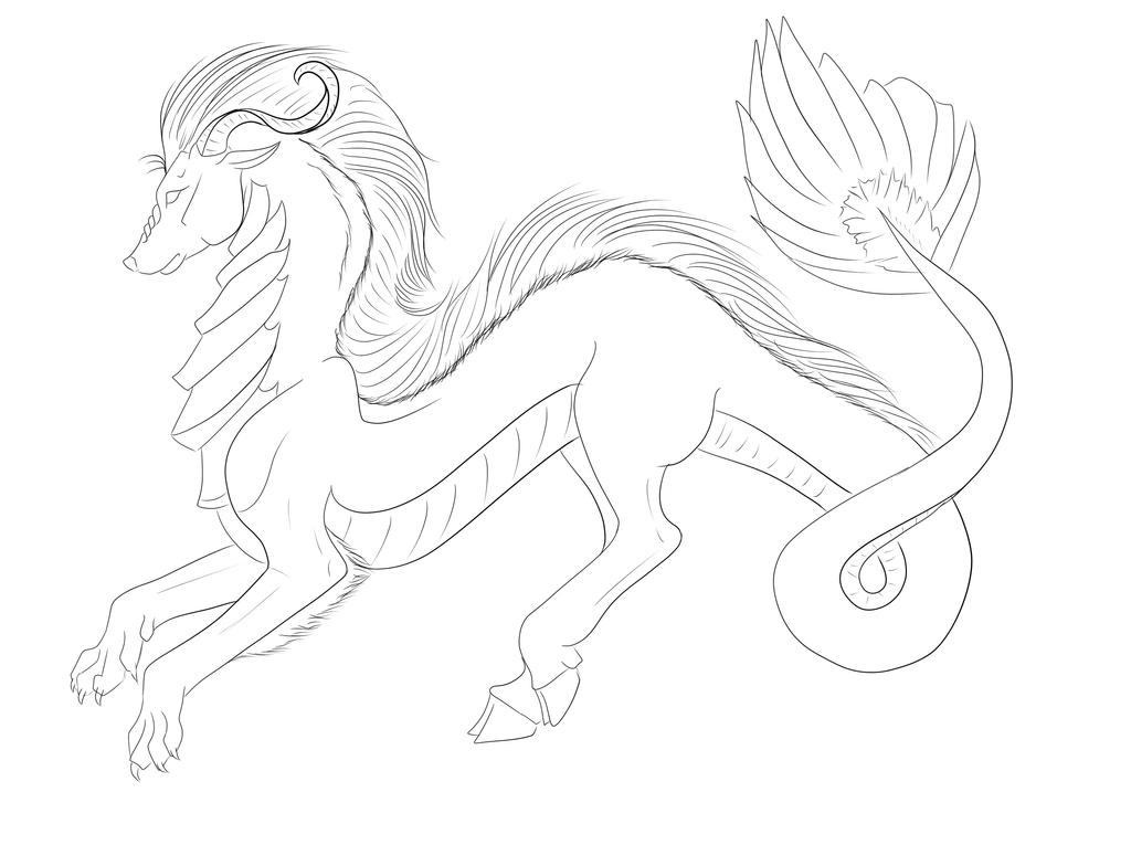 Line Art Dragon : Dragon lineart by liquidpoulpi on deviantart