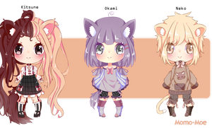 Auction Adoptables #1 by Momo-Moe
