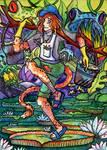 Watercolor postcard for Tiamat ART