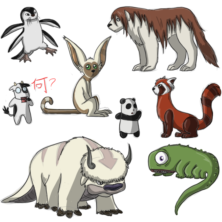 FMA and Avatar creatures sketch dump by Pumpkin-Paw on
