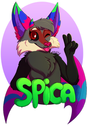 COM- Spica Badge by Pumpkin-Paw