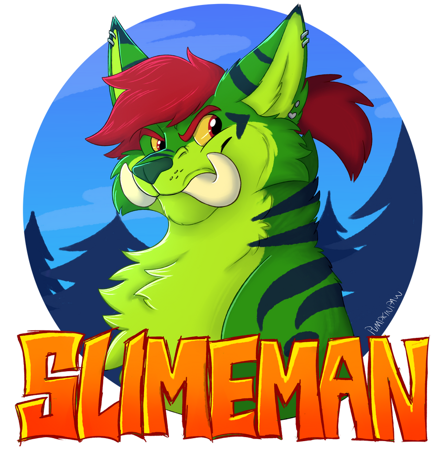 COM- Slimeman Badge by Pumpkin-Paw