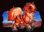 Concept - Growlithe Ground Fusion by Baals-Baby