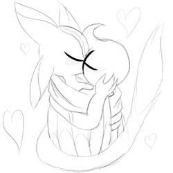 Interspecies Romance (Sketch) - By Rogus247 by TylorTheHedgehog