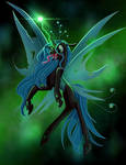 Queen Chrysalis by rainblueart