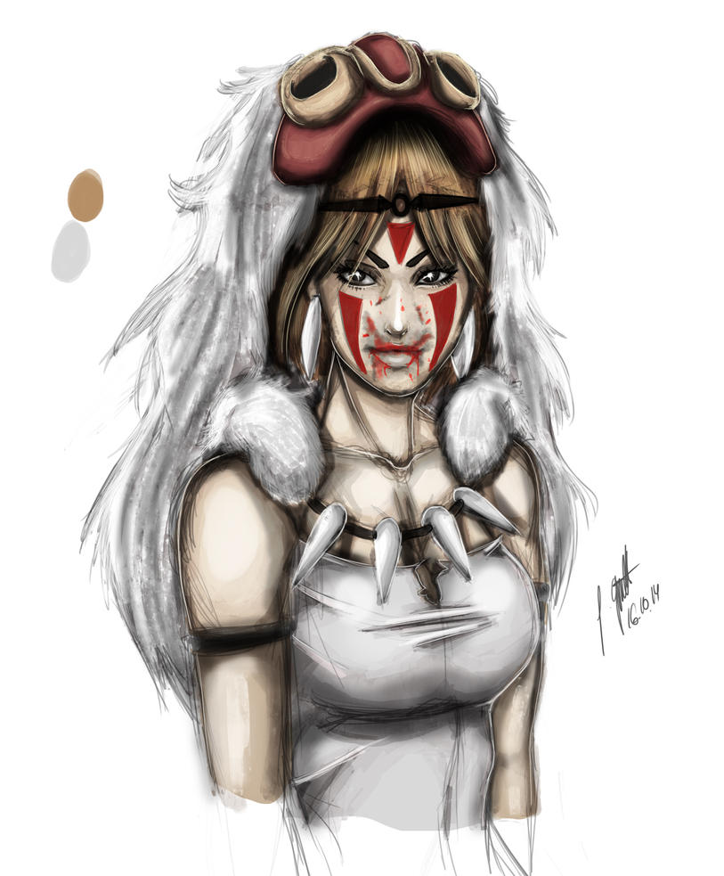 Princess Mononoke by IlCapoBianco