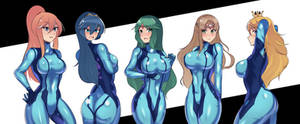 Zero suit girls by volyzsan