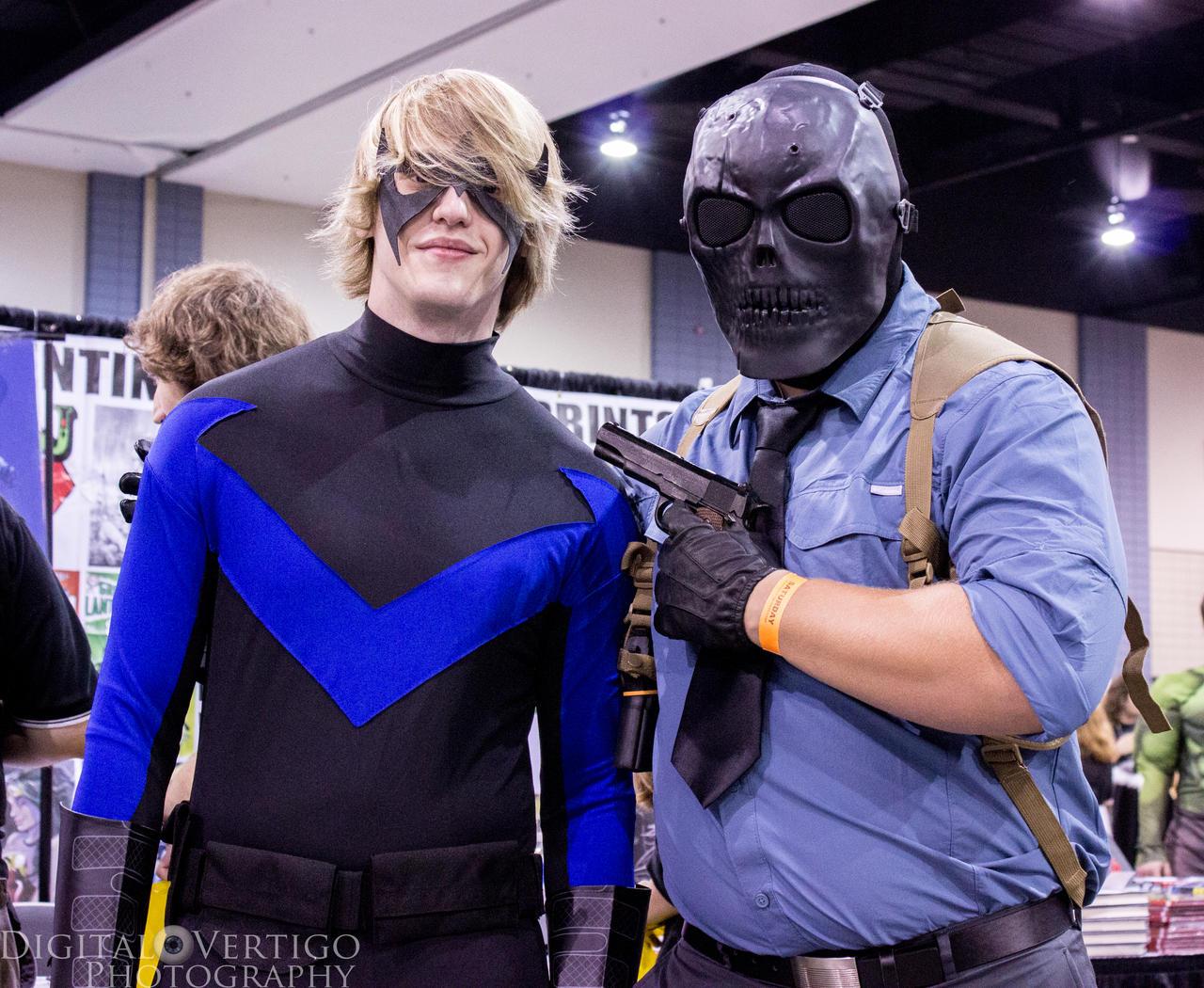 Nightwing and Black Mask by Digital-Vertigo on DeviantArt