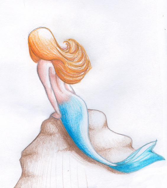 how to draw a cute and easy mermaid