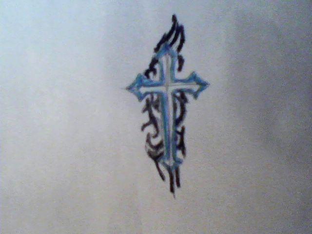 badass cross tat tattoos tribal