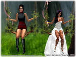 Ari and Trasee on Tree Swings by traseedarkwatch