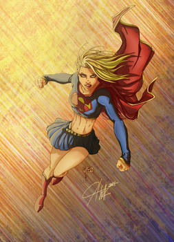 Michael Turner's SuperGirl Colored by Jwolk