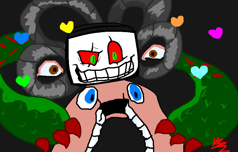 how to draw omega flowey
