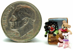 TEDDY BEAR GOLLY DOLL by WEE-OOAK-MINIATURES