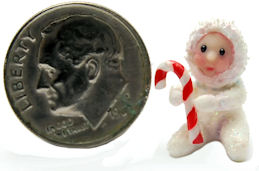 CHRISTMAS SNOW BABY DOLL by WEE-OOAK-MINIATURES