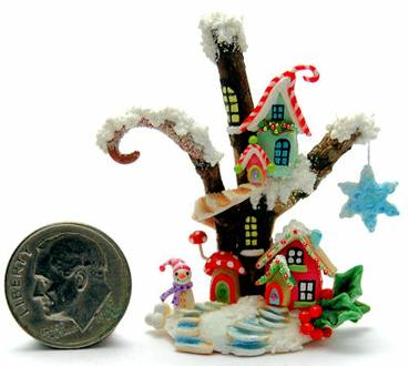Christmas Fairy House Cottage By Wee Ooak Miniatures On